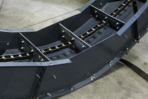 Incline Chain Conveyor Paddles